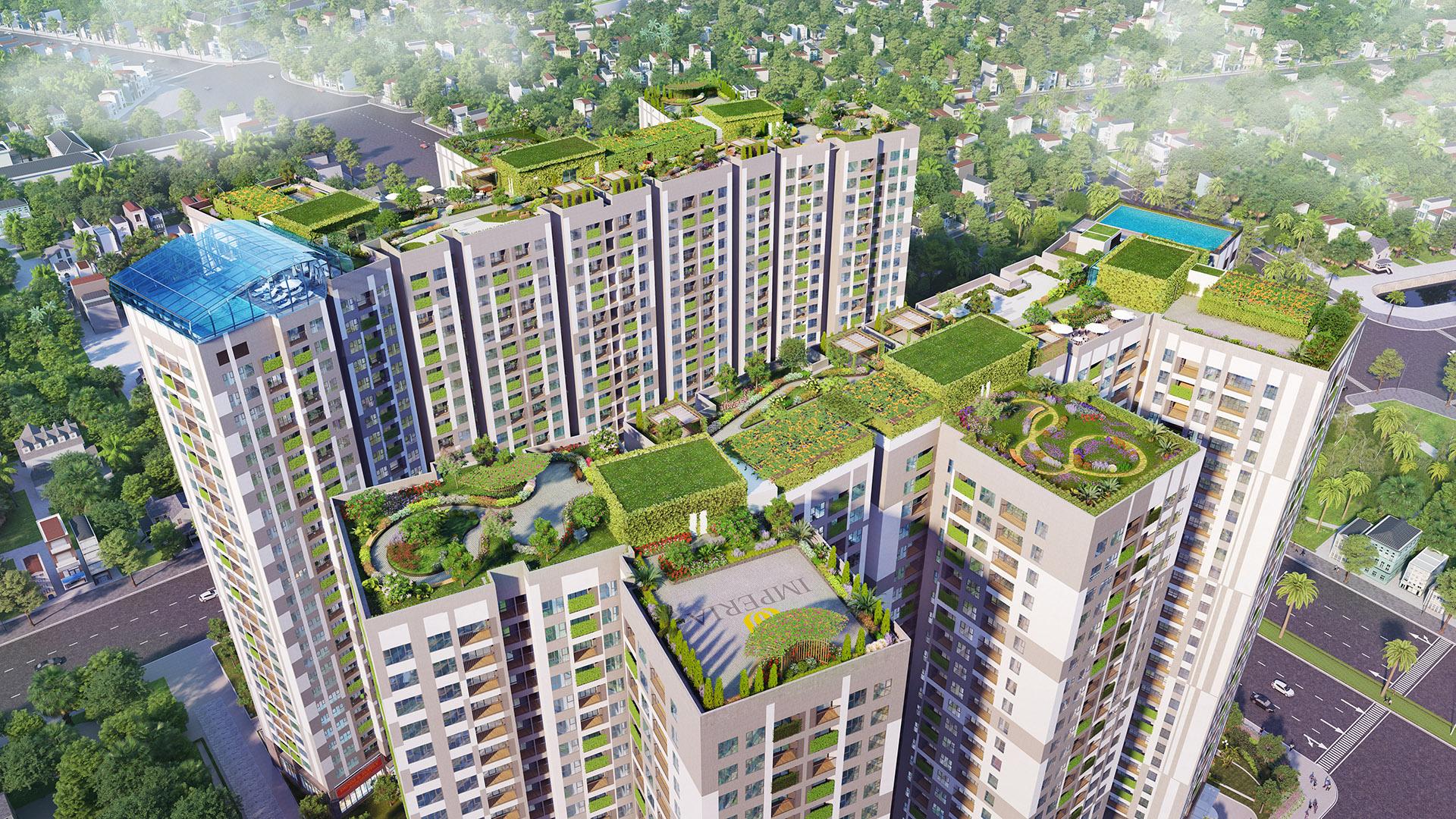 Khu vườn chân mây Imperia Sky Garden lọt Top các dự án xanh thông minh