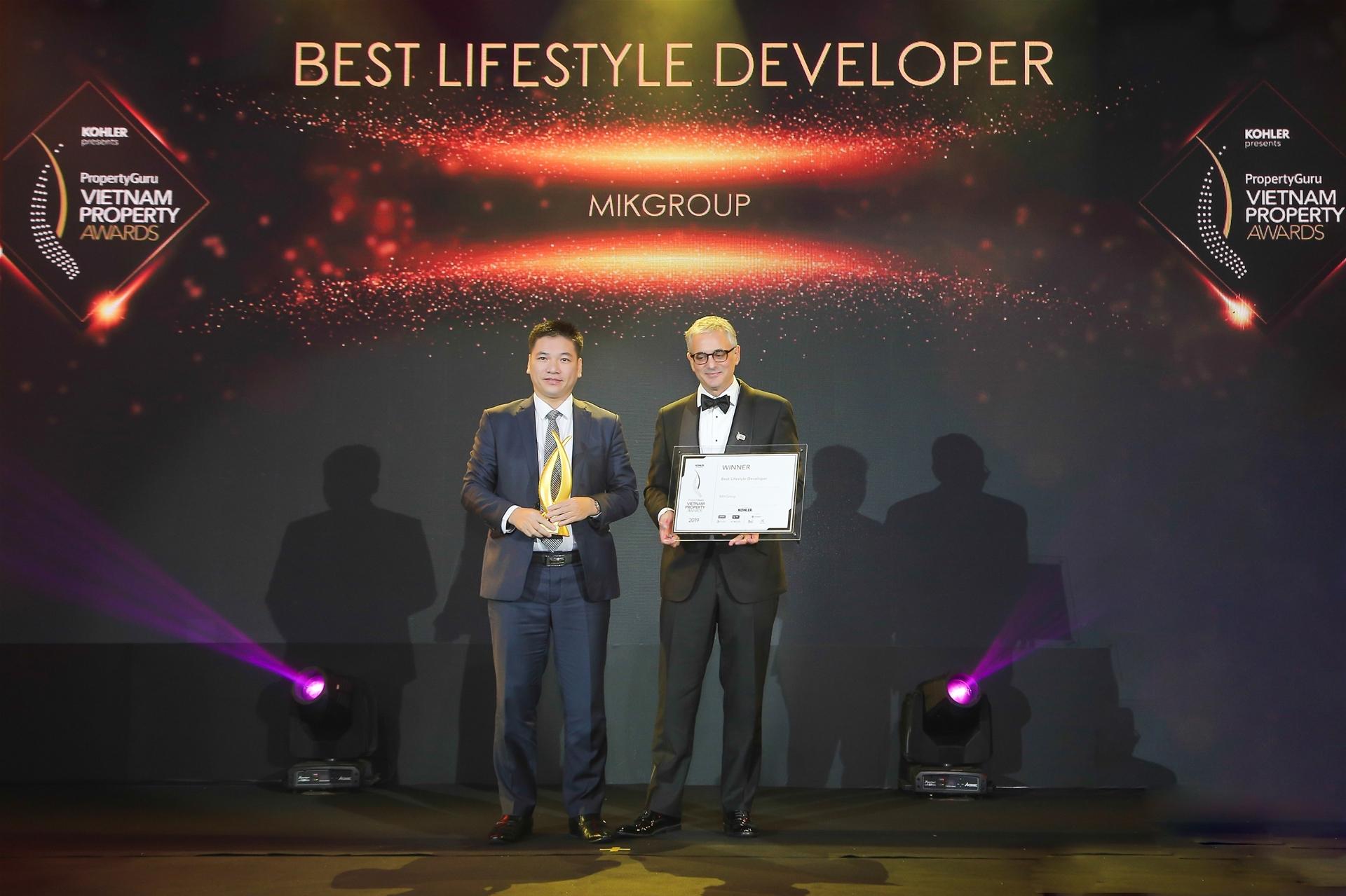 Vietnam Property Adwards vinh danh MIKGroup là nhà phát triển BĐS phong cách sống tốt nhất