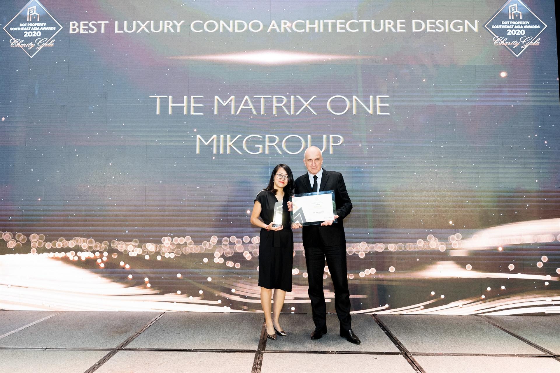 The Matrix One rinh giải thưởng Dự án hạng sang có thiết kế kiến trúc đẹp nhất Đông Nam Á