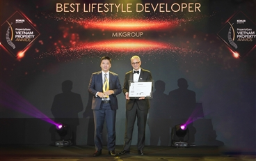 VIETNAM PROPERTY AWARDS HONOURED MIKGROUP AS THE BEST LIFESTYLE PROPERTY DEVELOPER