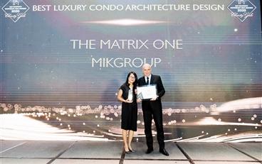The Matix One rinh giải thưởng Dự án hạng sang có thiết kế kiến trúc đẹp nhất Đông Nam Á